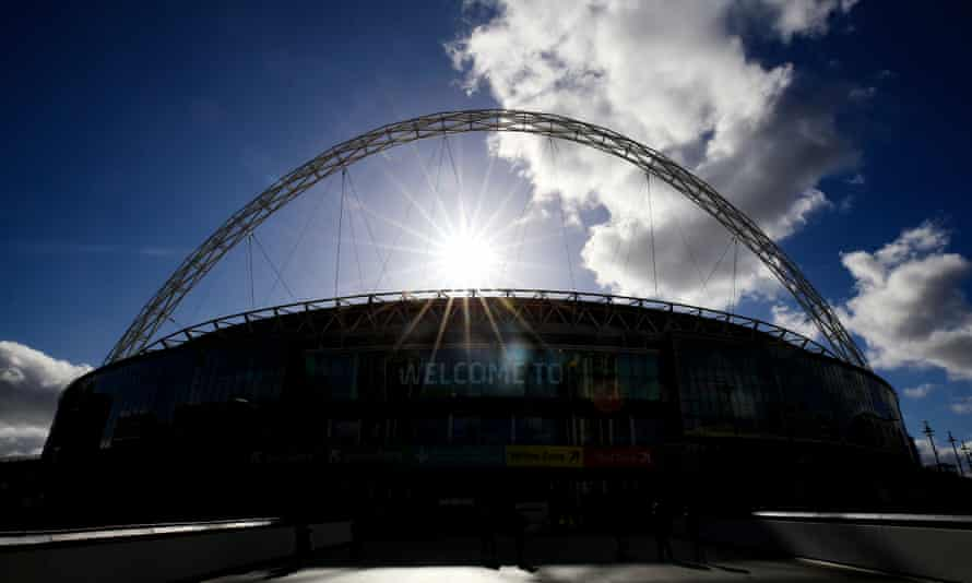 Wembley, which hosts the Carabao Cup final on 25 April, pictured before last season's final.