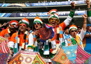London, UKIndian cricket fan during the India v South Africa ICC Champions Trophy Group B at the Oval
