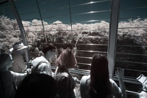 Prince Henry Cliff can be seen as tourists travel in the Scenic Skyway cable car in the Blue Mountains