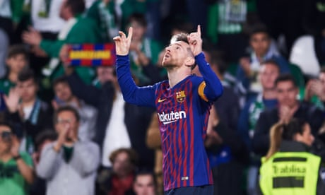Lionel Messi's spectacular hat-trick prompts Betis fans to chant his name
