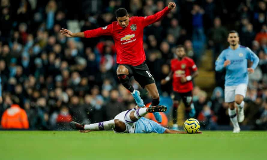 Marcus Rashford was at the heart of United's counterattacks throughout.