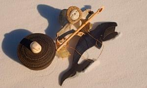 Inupiaq Artwork made from marine mammals.