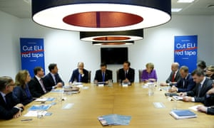 David Cameron at a 'Cut EU Red Tape' session
