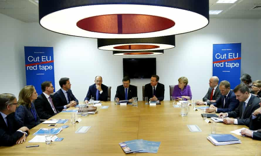 David Cameron at a 'Cut EU Red Tape' session