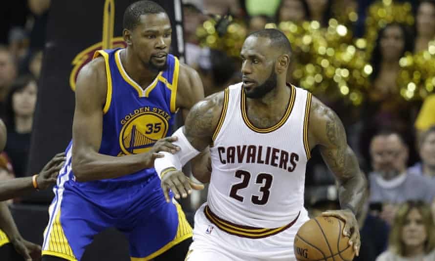 Kevin Durant and LeBron James faced off in last season's NBA finals