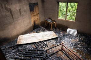 Burned house in Ambo