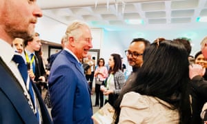 Anita Sethi meeting Prince Charles at the Commonwealth People's Forum in London