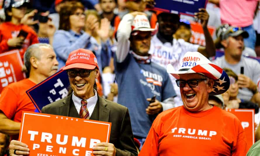 Trump supporters at the rally in Sunrise.
