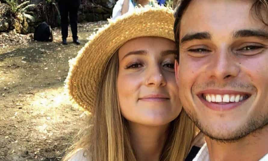 Isobel Cameron and her boyfriend.
