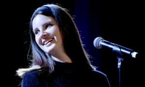 Lana Del Rey performing in New York City, 5 December 2018.