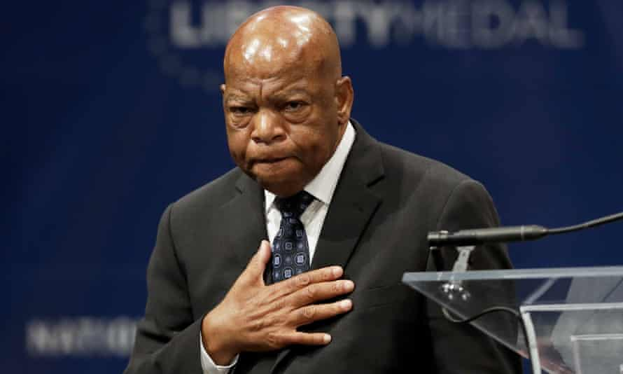Rep. John Lewis, pictured after being presented with the Liberty Medalin September 2016. He now adds the National Book Awards young people's literature prize to his achievements.