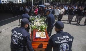 The memorial service in Morelia.