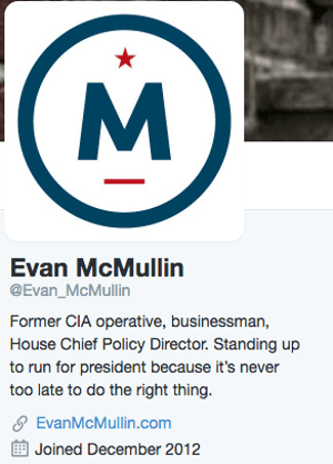 Evan McMullin Twitter