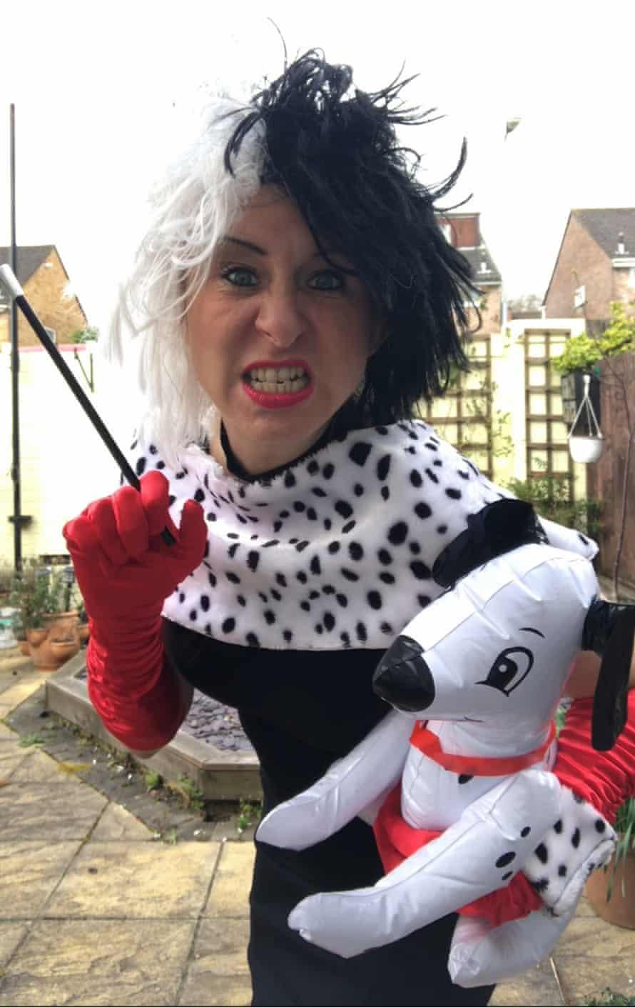 Jo Parry in her Cruella d Vil costume