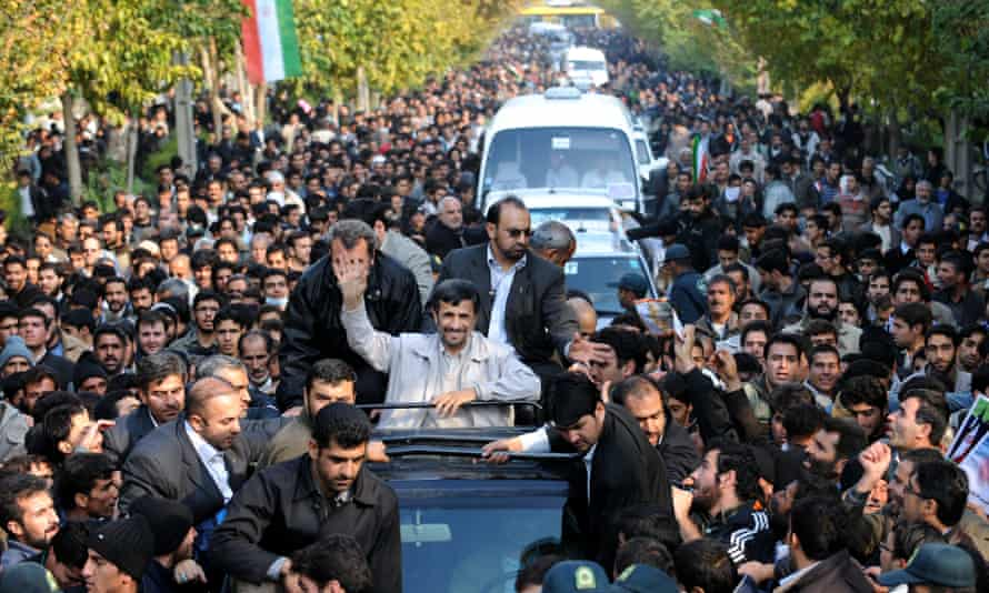 December 2009: Mahmoud Ahmadinejad waves to wellwishers from his car in Isfahan, south of Tehran.