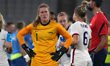 Alyssa Naeher takes in USA's defeat to Sweden in their opening game at the Olympics