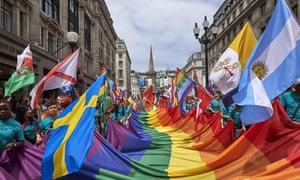 The annual Pride Parade in London in 2017.