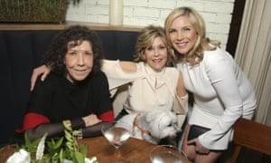 Lily Tomlin, Jane Fonda, June Diane Raphael and friend.