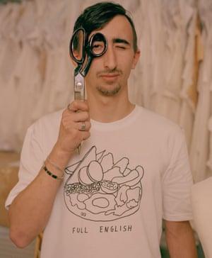 Alexandru Din, 21, cutting assistant, wears T-shirt, £27.