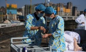 Medical workers in Kunming