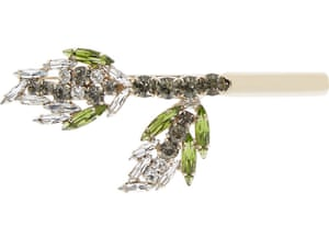"""£170 by Marni from <a href=""""http://www.net-a-porter.com/gb/en/product/637777/Marni/gold-plated-crystal-hairclip"""">net-a-porter.com </a>"""