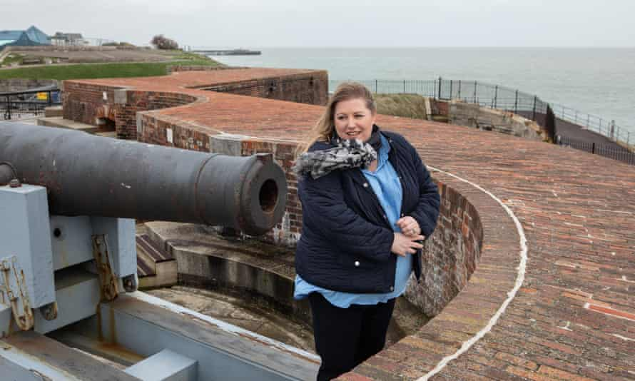 Council leader Donna Jones on the ramparts of the Tudor fort in Portsmouth.