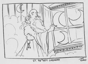 Chris Riddell's sketch for