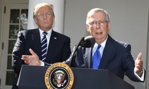 Two peas in a pod: Trump and McConnell in the Rose Garden.