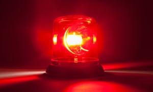 red emergency light