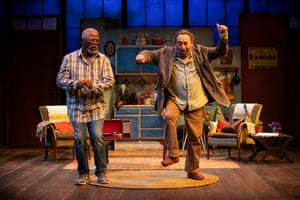 John Kani and Antony Sher in Kunene and the King at the Swan theatre, Stratford-upon-Avon.