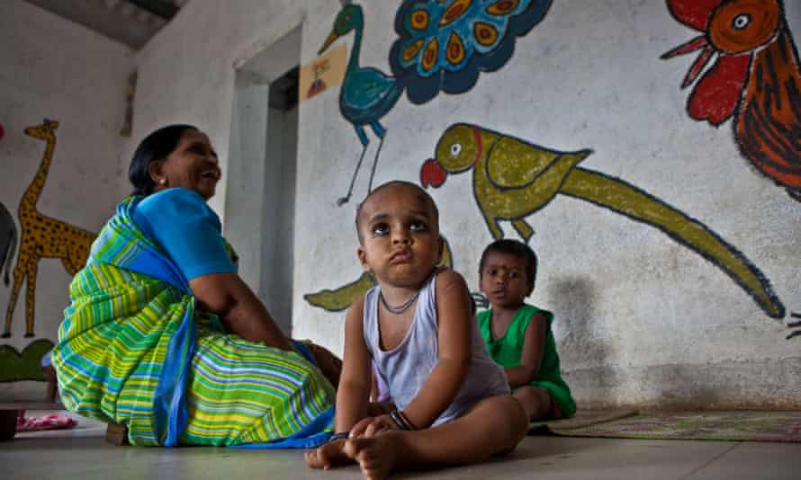 Children play at a centre run by the Mumbai Mobile Creche organisation