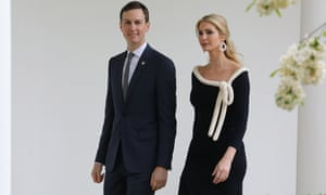 Jared Kushner and his wife Ivanka Trump at the White House in April.