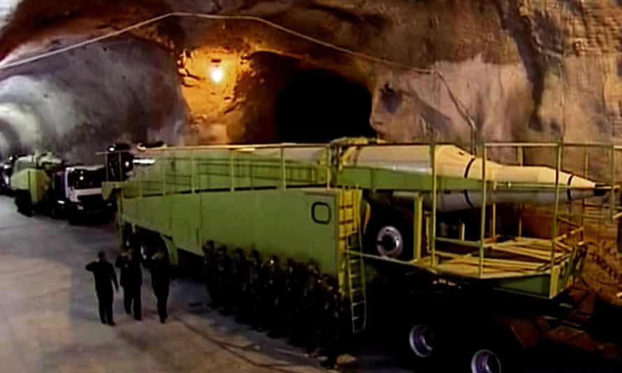 missile launchers in an underground tunnel