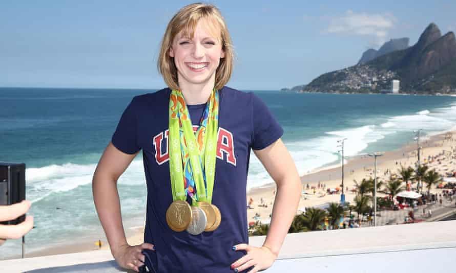 Olympian Katie Ledecky (Photo by Joe Scarnici/Getty Images)