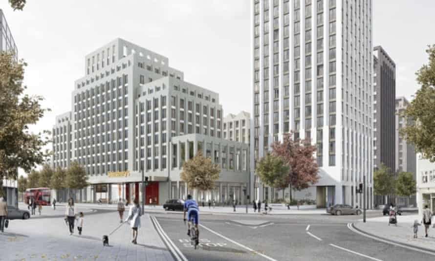 An artist's visualisation of the Sainsbury's development in Ilford
