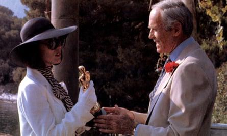 Marthe Keller and Henry Fonda in Wilder's Fedora (1977).