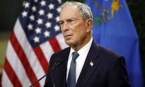 Michael Bloomberg speaks at a gun control advocacy event in Las Vegas.