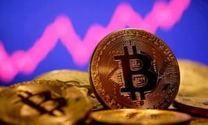 A representation of virtual currency Bitcoin.