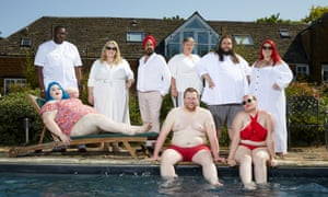 Courtney, David, Sarah, Del, Babs, Jack, Jed, Victoria and Miranda in Who Are You Calling Fat?