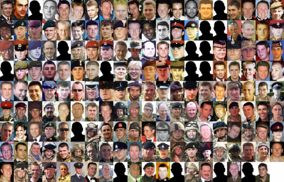 The 179 troops that died during the conflict in Iraq.