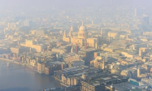 Dense fog in London bringing air pollution to the capital's streets.