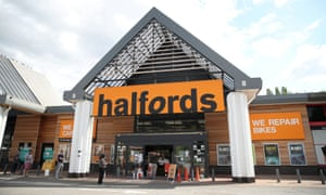 A Halfords store in St Albans, Britain