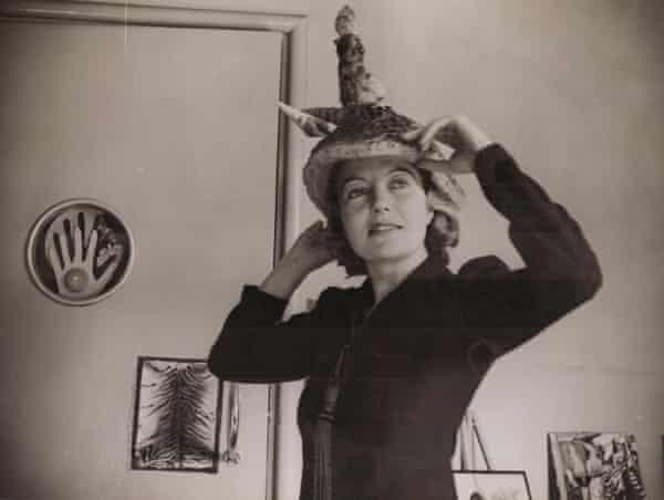 Agar wearing Ceremonial Hat for Eating Bouillabaisse, 1936.
