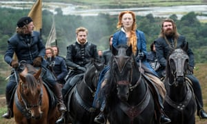 Saoirse Ronan and other cast members in the film Mary, Queen of Scots.