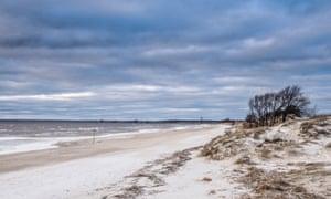 Estonian beach in winter