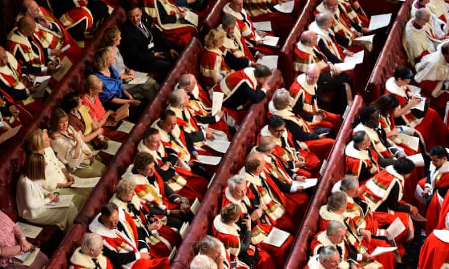 Peers and guests in the House of the Lords