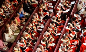 Since May's general election, 62 new peers have entered the Lords, including four hereditaries and two bishops.