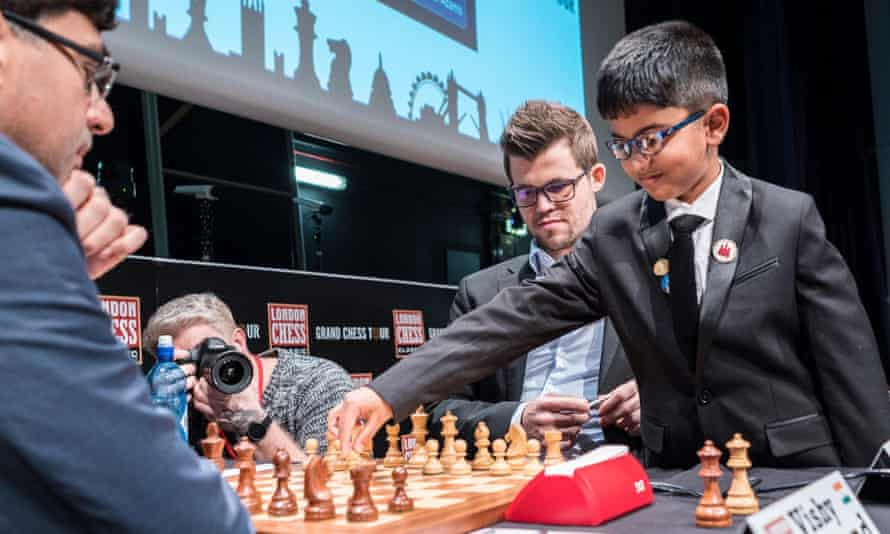 Shreyas Royal (right) has been described as Britain's greatest chess prospect.