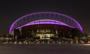 The Khalifa international stadium in Doha, Qatar