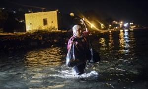 Refugee in sea off Bodrum